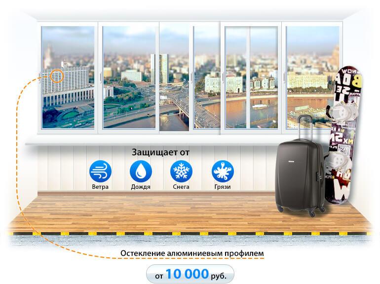 Холодное остекление балконов в Улан-Удэ