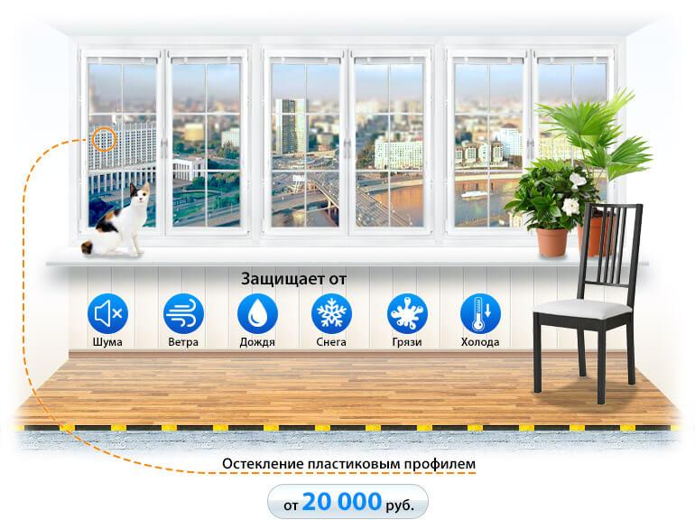 Тёплое остекление балконов в Улан-Удэ